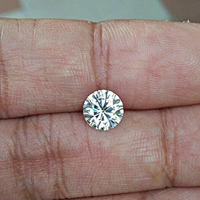harga Diamond moissanite round 15ct 75mm super white g vvs1 Tokopedia.com