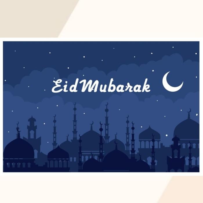 Jual Happy Eid Mubarak 01 Ramadhan Kartu Pos Postcard Greetings