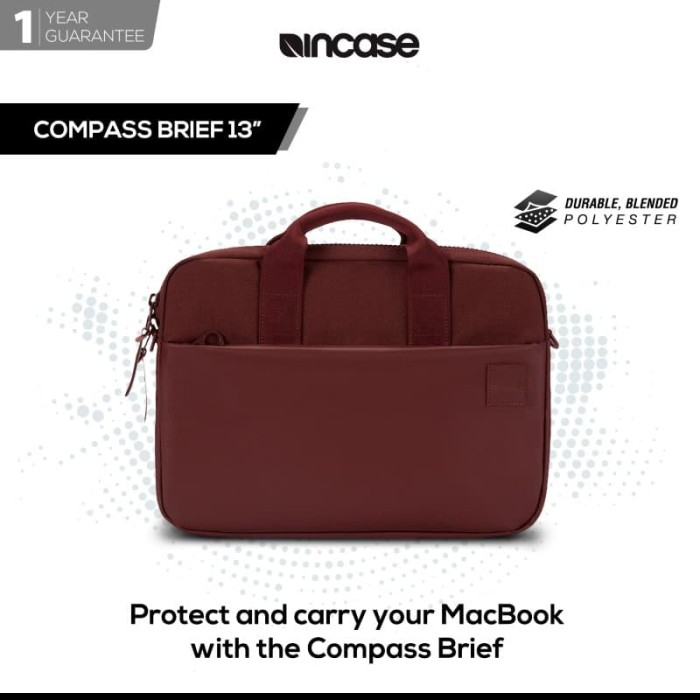 Incase compass brief 13  (inco300206-drd) - deep red