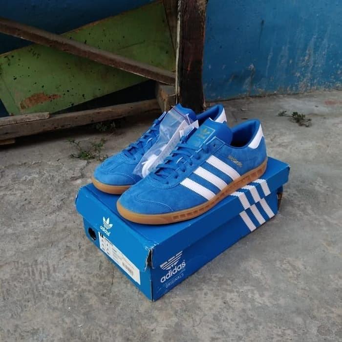 Jual Sepatu Casual Adidas Hamburg Blue Bird Original 100 Bnib