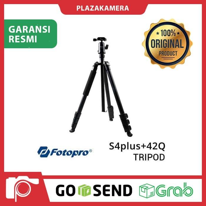 harga Fotopro s4+ dan ballhead 42q black tripod Tokopedia.com