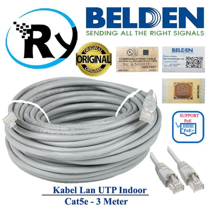 Jual Belden Utp 3m Kabel Lan Cat5e 3 Meter Cable Original Usa Siap Pakai Jakarta Barat Megarystore Tokopedia