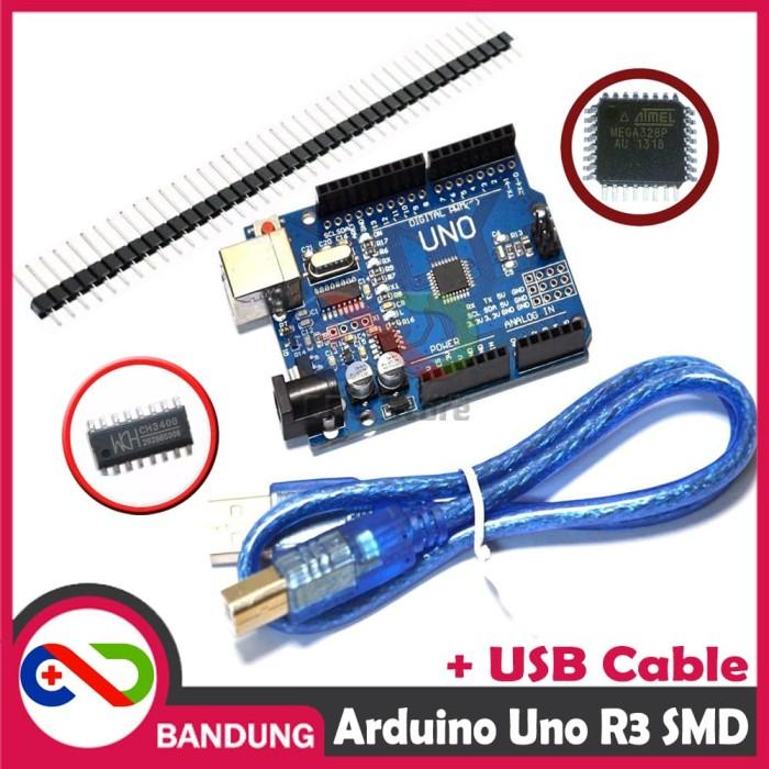 Foto Produk [CNC] ARDUINO UNO R3 SMD CH340 ATMEGA328P PLUS USB & PIN HEADER dari CNC STORE BANDUNG