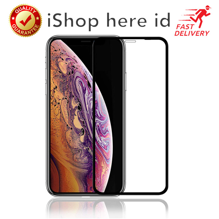 Foto Produk HD 9H Full Cover Tempered Glass Anti Gores iPhone X XR XS 11 Pro Max dari iShop Here