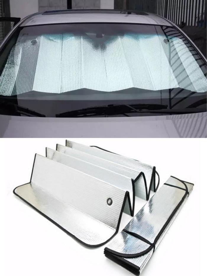 Foto Produk Sun Shield / Pelindung panas dashboard kaca mobil - size 130CM X 60CM dari rejeki shop