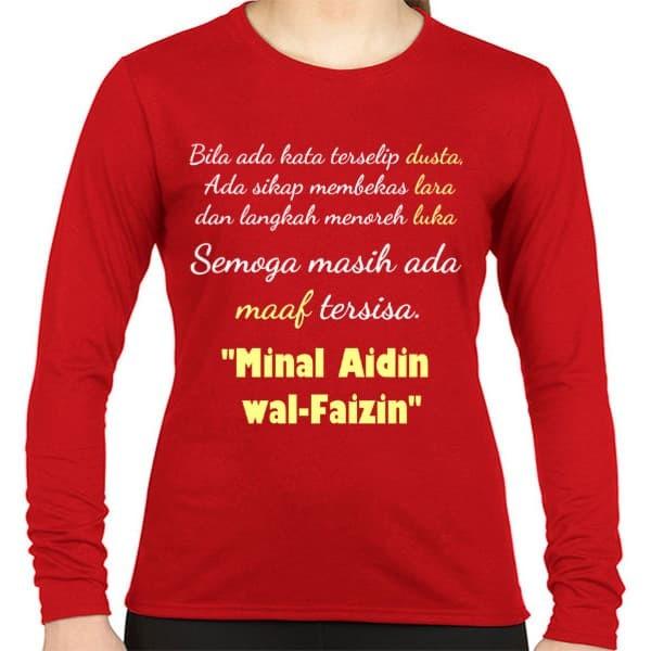 Kaos Kaos Baju Lebaran wanita Minal Aidin wal-Faizin v1 (PO)
