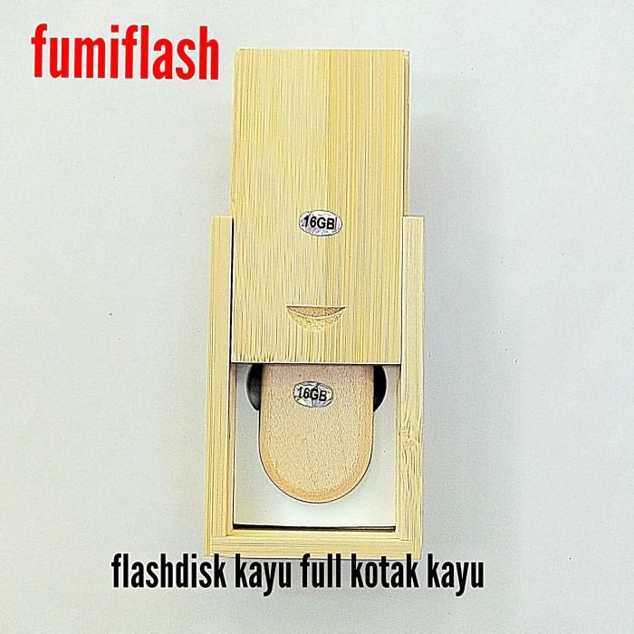 Foto Produk flashdisk usb kayu kotak dari fumiflash
