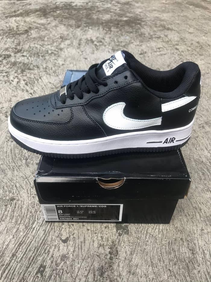 newest eee6c e0502 Jual Nike Air Force 1 Low Supreme x Comme des Garcons (2018) - Black White  - Hitam, 36 - Kota Tangerang - Deca Fashion | Tokopedia