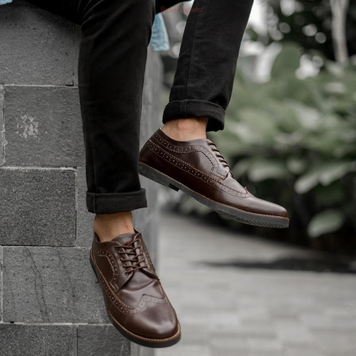 Jual Sepatu Pria Casual Kulit Pantofel Formal Kantor Vintage Cowok Bandung Kab Bandung Buset Sepatu Tokopedia