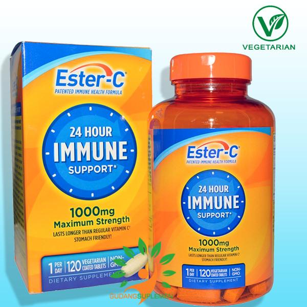 Foto Produk ESTER-C 1000 mg, 120 Veggie Coated Tablets -- Vitamin C Ramah Lambung dari gudangsuplemen