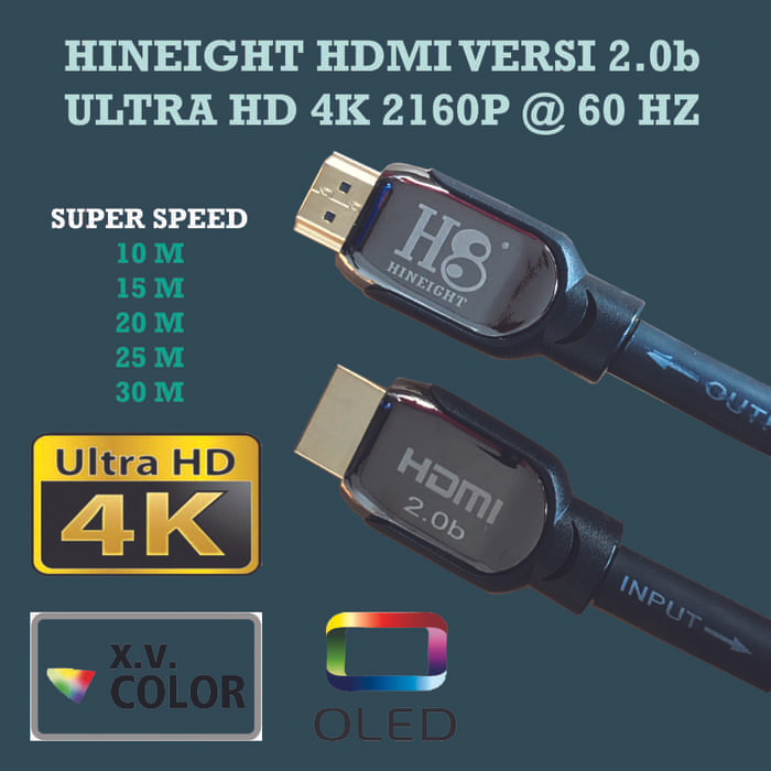 Foto Produk Kabel HDMI To HDMI V2.0b UHD 4K 30 Meter (HINEIGHT(H8)  Power Booster dari Enter Komputer Official