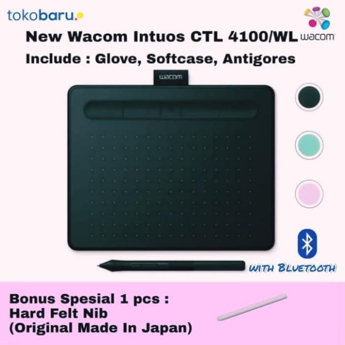 harga New wacom intuos small bluetooth ctl-4100wl-e0 pistachio garansi resmi Tokopedia.com