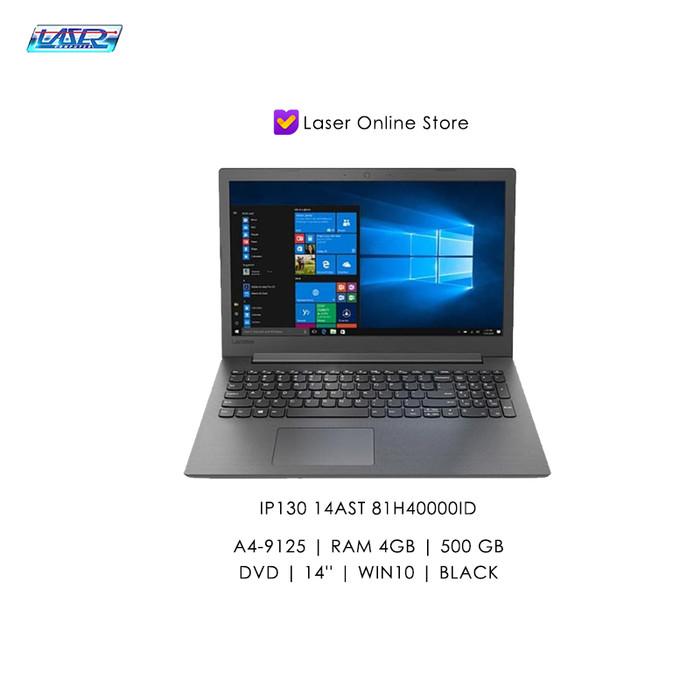 harga Laptop lenovo ip130 14ast 81h40000id | a4-9125/4gb/500/dvd/14''/win10 - hitam Tokopedia.com