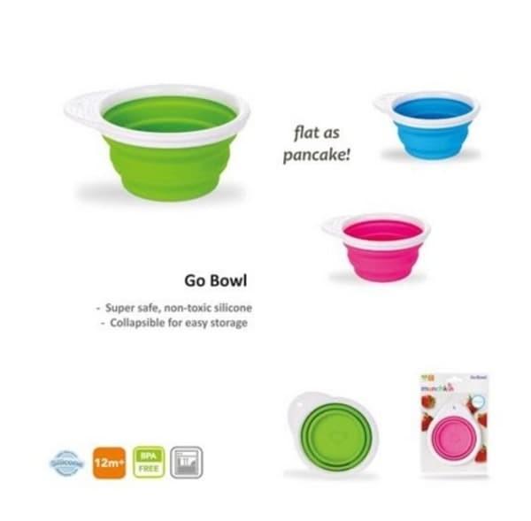 Munchkin Go Bowl™ Silicone Bowl - Blue