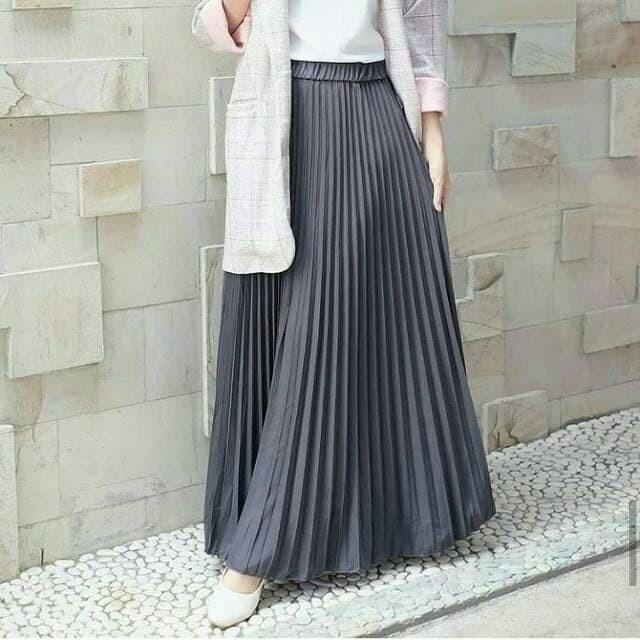 Jual ROK PLISKET PREMIUM - Hitam - Kota Cimahi - sheibu_fashion | Tokopedia