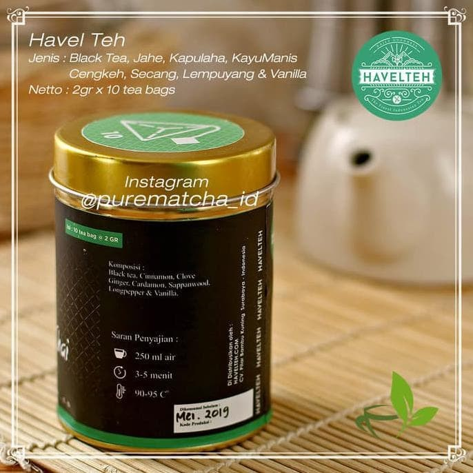 Foto Produk Promo Havel Teh - Kelimutu Chai Tea Rempah Masala Artisan Tea Blend dari elifitriyzan shop