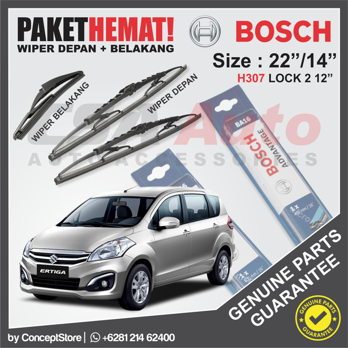 harga Set wiper suzuki ertiga bosch advantage size 22 /14  + lock 2 12 Tokopedia.com