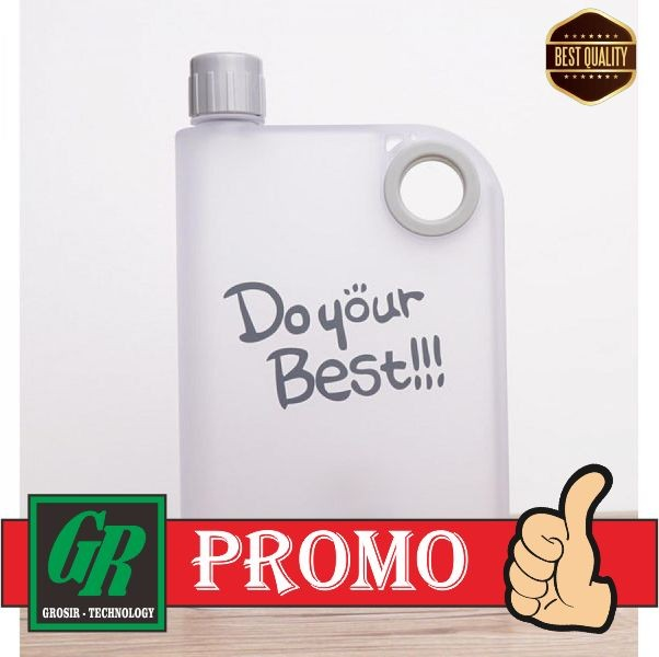 Foto Produk Memobottle Botol Minum Flat 380ml dari grotechno