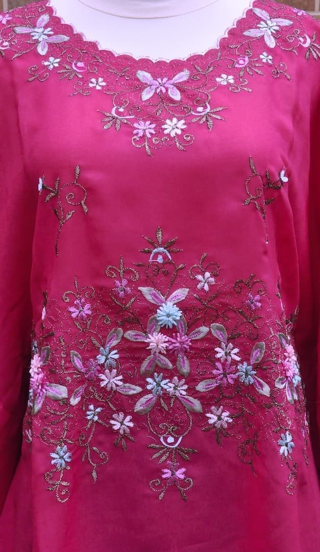 Jual Baju Atasan Bordir Baju Muslim Kebaya Warna Pink Fanta Kota Tasikmalaya Mukenahijab Tokopedia