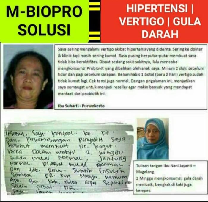 Foto Produk M BIOPRO Obat Vertigo paling mujarab Sakit Kepala-Migran-Demam Mbiopro dari Tasik Store
