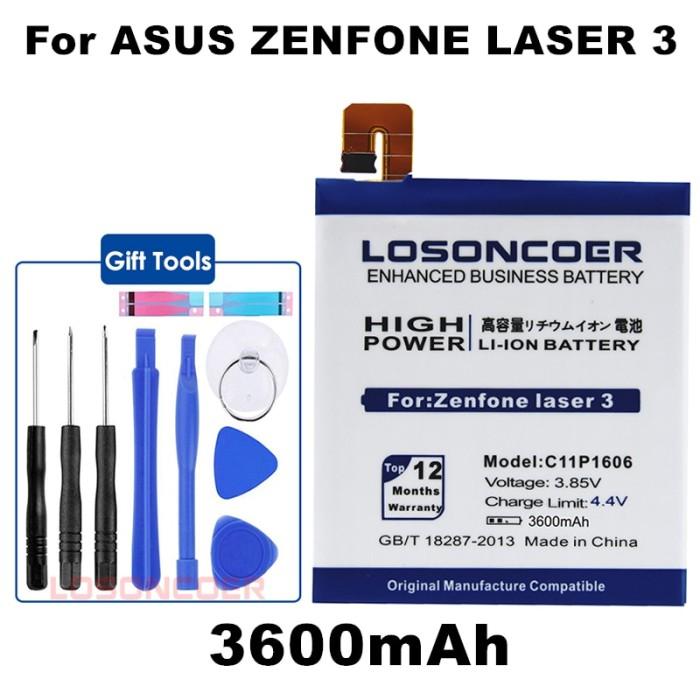 Jual LOSONCOER 3600mAh C11P1606 Battery For Asus Zenfone Laser 3 Zc551kl -  Kota Surabaya - Nirwana Mart | Tokopedia