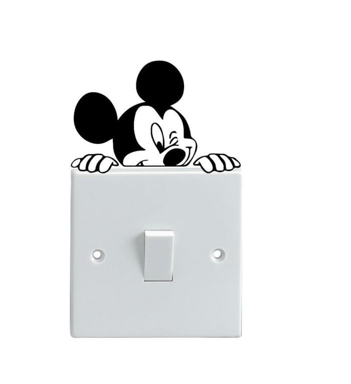 PROMO Stiker Dekorasi Saklar Lampu Motif Mickey Mouse Disney Wall