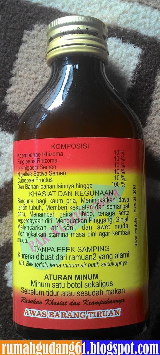 "Jual Dijual Jamu Kuat Ramuan Tradisional ""Pak Kumis"" Murah 100 % Ori Tbk Jakarta Selatan Patricia Arianti Shop"