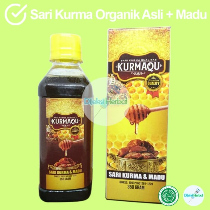 Foto Produk Masih ready pesanan! KURMAQU Sari Kurma Plus Madu Dasyat Khasiatnyaa!! dari Dijeksi Herbal