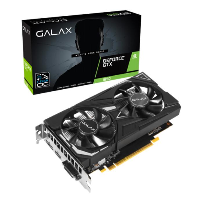 Foto Produk GALAX Geforce GTX 1650 4GB DDR5 (1-Click OC) - DUAL FAN dari COC Komputer