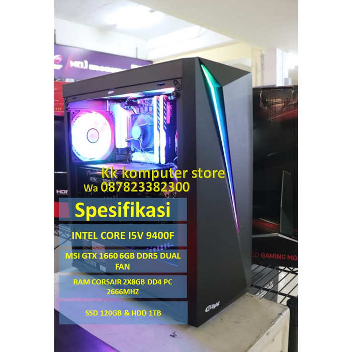 harga Pc rakitan gaming msi gtx 1660 6gb d5 & intel core i5 9400f & ram 16gb Tokopedia.com