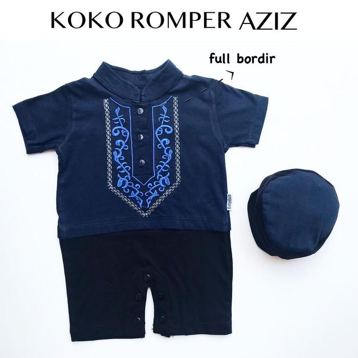 Foto Produk 3pc@45.000 KOKO ROMPER AZIZ koko bayi grosir koko anak murah - Biru Muda dari babeebabyshop2