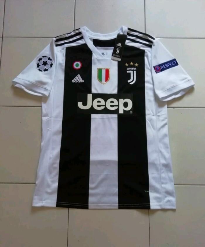 more photos a133c 3ac92 Jual Jersey Juventus Home New 2018 2019 plus Nameset Ronaldo 7 plus Full -  DKI Jakarta - brandnew | Tokopedia