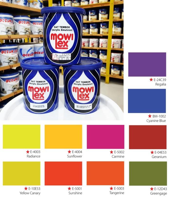 harga Cat tembok mowilex 1 liter - warna cerah spesial Tokopedia.com