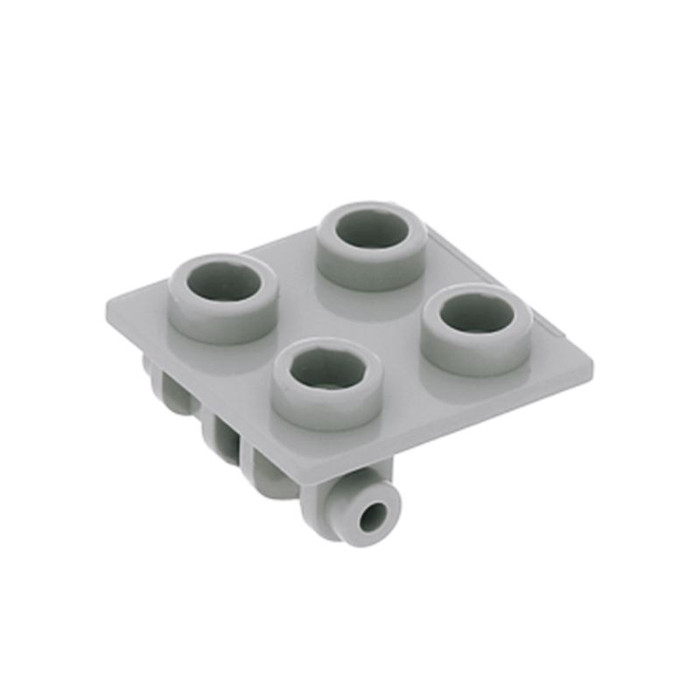 Lego 4 Dark Bluish Gray 1x2 hinge plate with closed handle on the end NEW