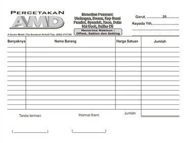 Jual Cetak Nota Di Semarang Kota Semarang Percetakan Mitrajaya Tokopedia
