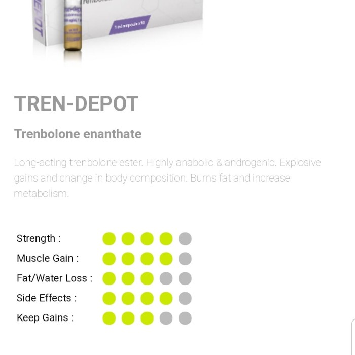 Jual Tren Depot 200 mg x 10 ampul Meditech Trenbolone Enanthate TrenDepot -  Jakarta Pusat - TOKO OTOT | Tokopedia