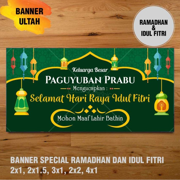 Jual Banner Spanduk Backdrop Special Ramadhan Amp Idul Fitri