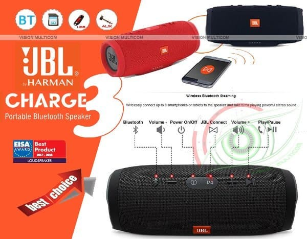 Jual JBL Charge 3 Portable Wireless Speaker - OEM - Kab  Tangerang -  sunstore01 | Tokopedia