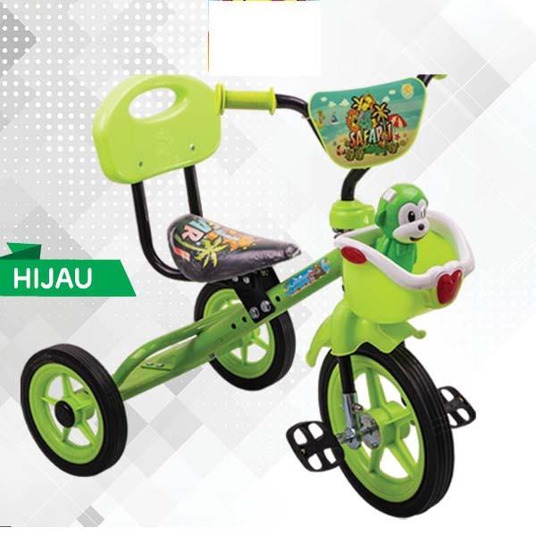 Sepeda Roda Tiga PMB Usia 1-3 Tahun Ban Karet Monkey Musik Melodi