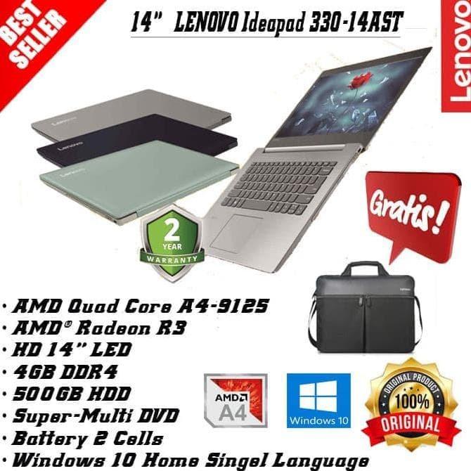 Jual Hot Sale Lenovo Ideapad 330 14ast Amd A4 9125 Ram 4gb Hdd 500gb Win 10 Jakarta Pusat Zudis Prasetyo Shopshop Tokopedia