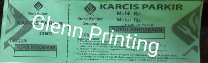 Foto Produk HOT SALE Karcis Parkir / minimal cetak 50 - 100 buku / ukuran 15x5 dari Ria Sentosa olshopi