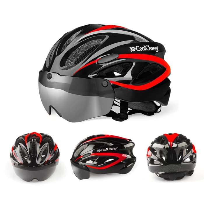 Foto Produk Helm Sepeda CoolChange Helm Sepeda EPS Windproof Lens - 19020 - Black dari JAG- Adventure Gear