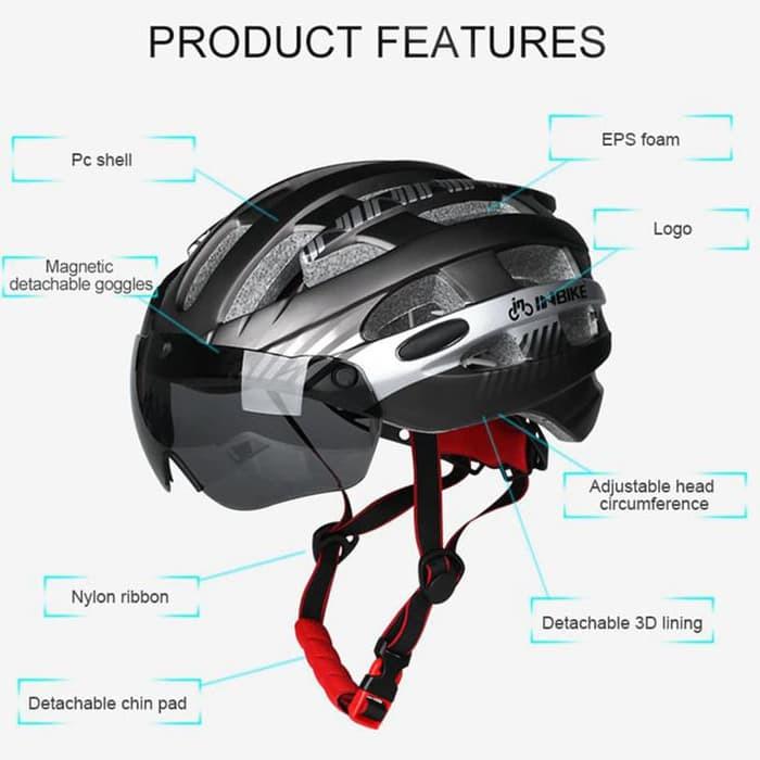 Foto Produk Helm Sepeda MTB Ultralight INBIKEWindproof Lens Size L - MX-3 - Silve dari JAG- Adventure Gear