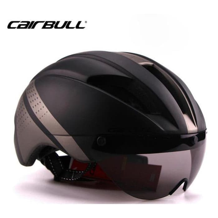 Foto Produk Helm CAIRBULL Helm Sepeda Magnetic Removable Lens Size L Black/Gray dari JAG- Adventure Gear