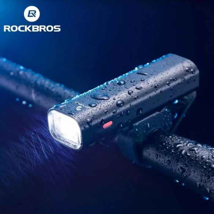 Foto Produk Senter sepeda LED ROCKBROS YQ-QD 400lm 2000mAh - Rechargeable dari Kaligung