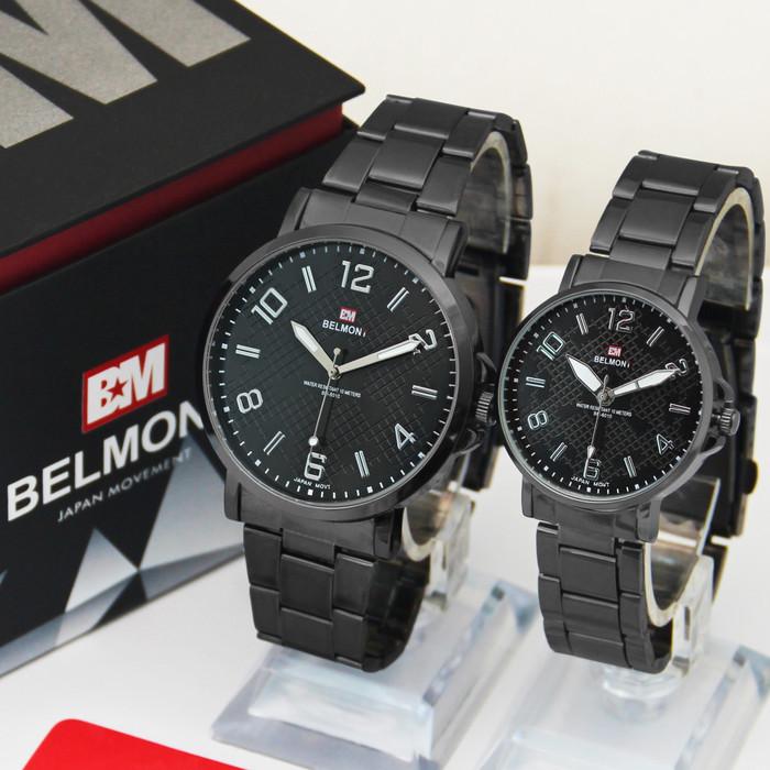 Foto Produk Jam Tangan Couple Rantai Belmont BM 6010 Hitam - Hitam dari juraganjam.co.id