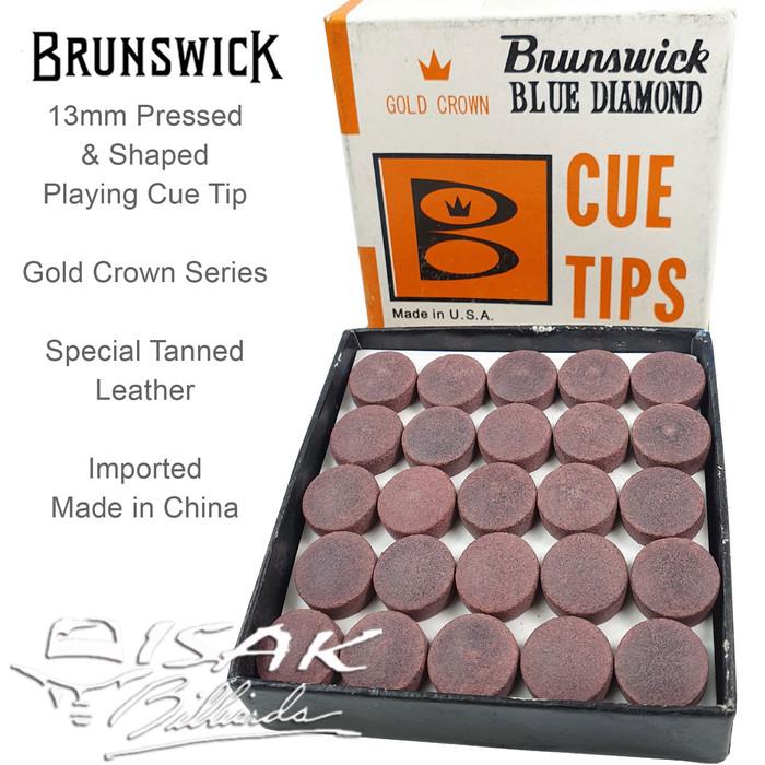 Foto Produk Brunswick Cue Tip KW 13mm - 1 Box 50 Tips Billiard Kepala Stick Lokasi dari ISAK Billiard Sport Co.