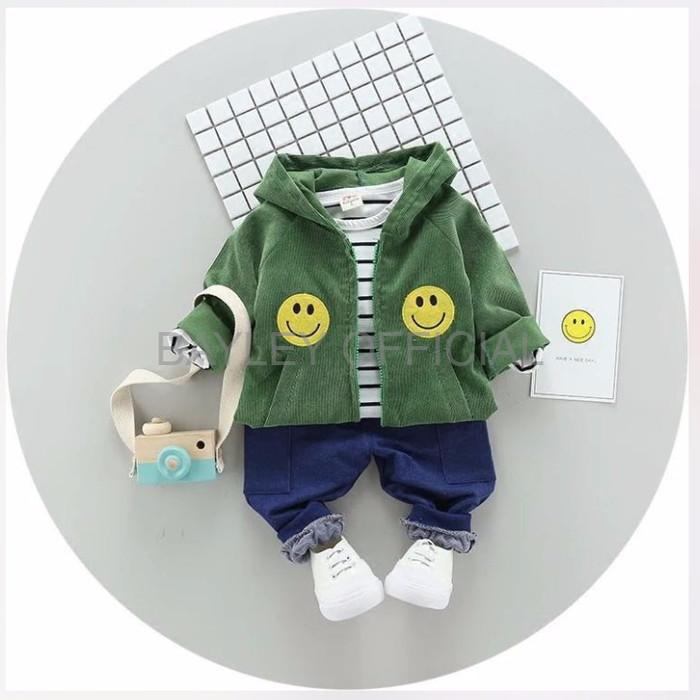 Jual Pakaian Anak Laki Laki Keren Babyfit O2 Sweater Smile 3in1 Jaket Topi Jakarta Barat Bayley Official Tokopedia