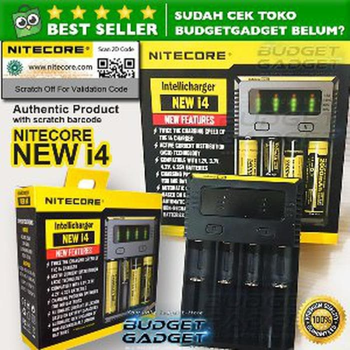 CUCI GUDANG Nitecore New i4 ORIGINAL Intellicharger Battery Ch Limited