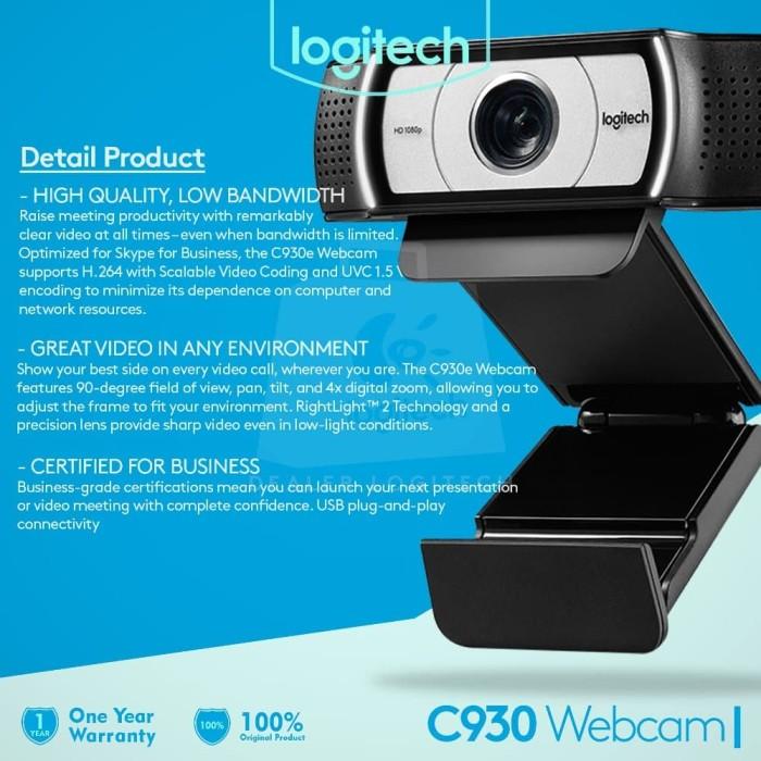 STOK TERAKHIR Logitech C930E Advanced 1080p HD Webcam Garansi Murah